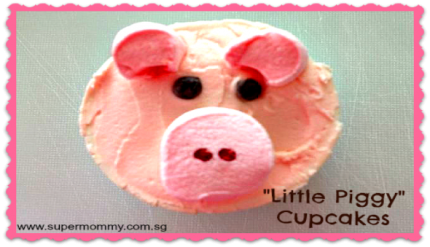 Easy LIttle Piggy Pink Cupcakes