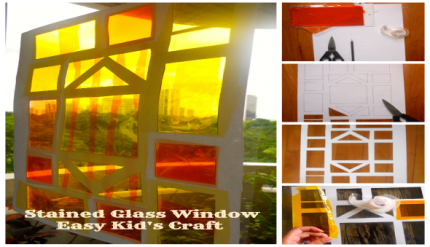 Stain Glass Window - Easy Kids Craft