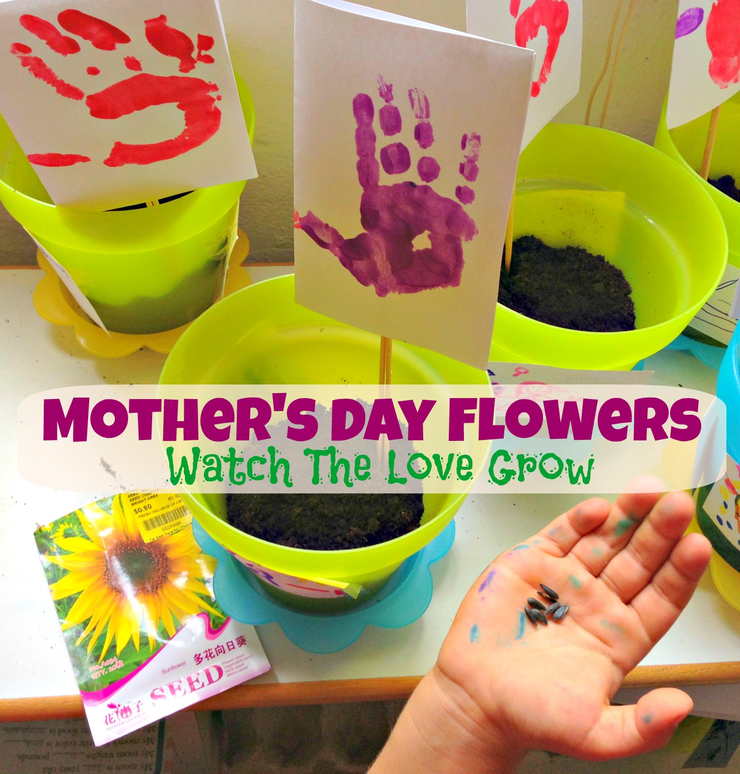 Mother S Day Flowers An Easy Kid S Craft Gift Idea For Mom