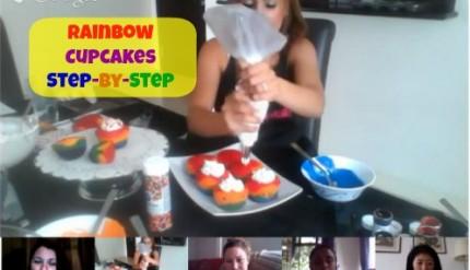 Rainbow Cupcakes Utube - Step by Step