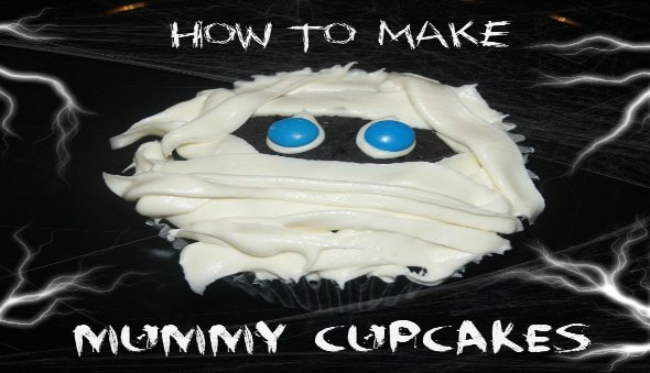 "How To Make ""Mummy"" Cupcakes"