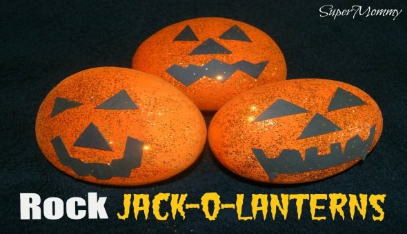 Halloween Rock Pumpkin - Kid's Craft and Easy DIY