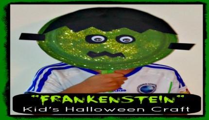 Frankenstein - Halloween Easy Kid's Paper Plate Craft