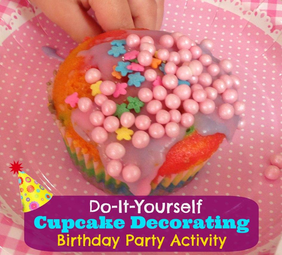 DIY Cupcake Decorating Kids Birthday Party Activity