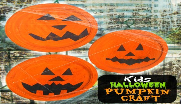 Pumpkin Paper Plate Kid's Craft