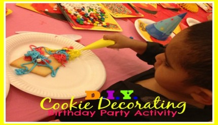 DIY Cookie Decorating - Easy Kid's Birthday Party Activity