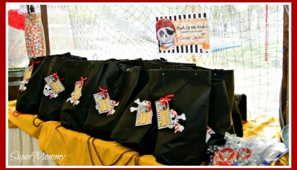 Pirate Themed Birthday Party Goodie Bags