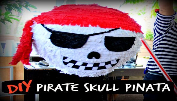 How to Make A Pirate Skull Piñata
