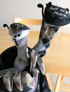golf club buddies, father's day, kids crafts, arts and crafts, father's day crafts, easy crafts