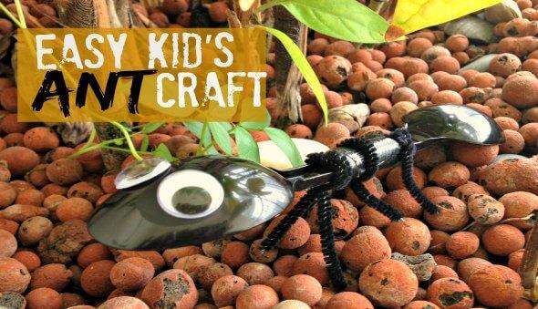 "Easy Kid's ""Ant"" Craft Activity"