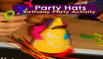 DIY Party Hats - Kid's Birthday Party Activity