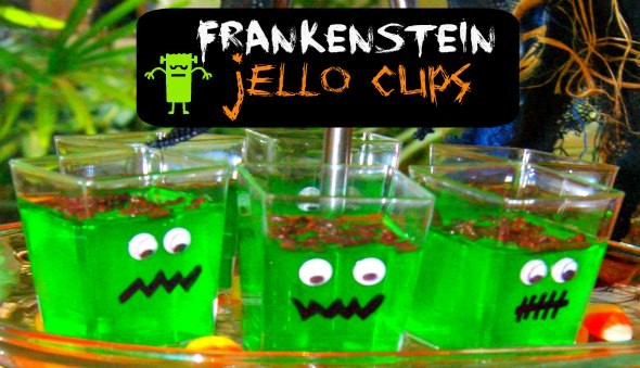 Halloween Party Food for Kids - Jello Monsters