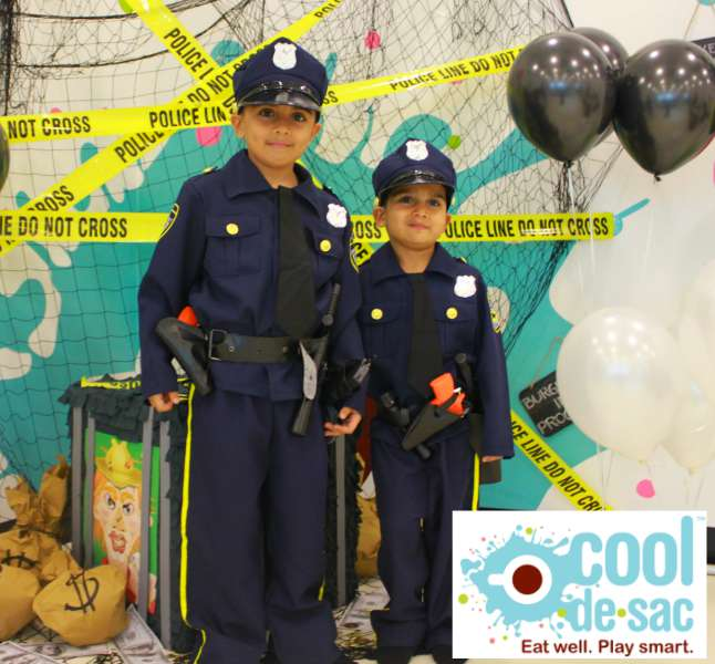 Kids Birthday Party Venue Cool de Sac Singapore Cops & Robbers