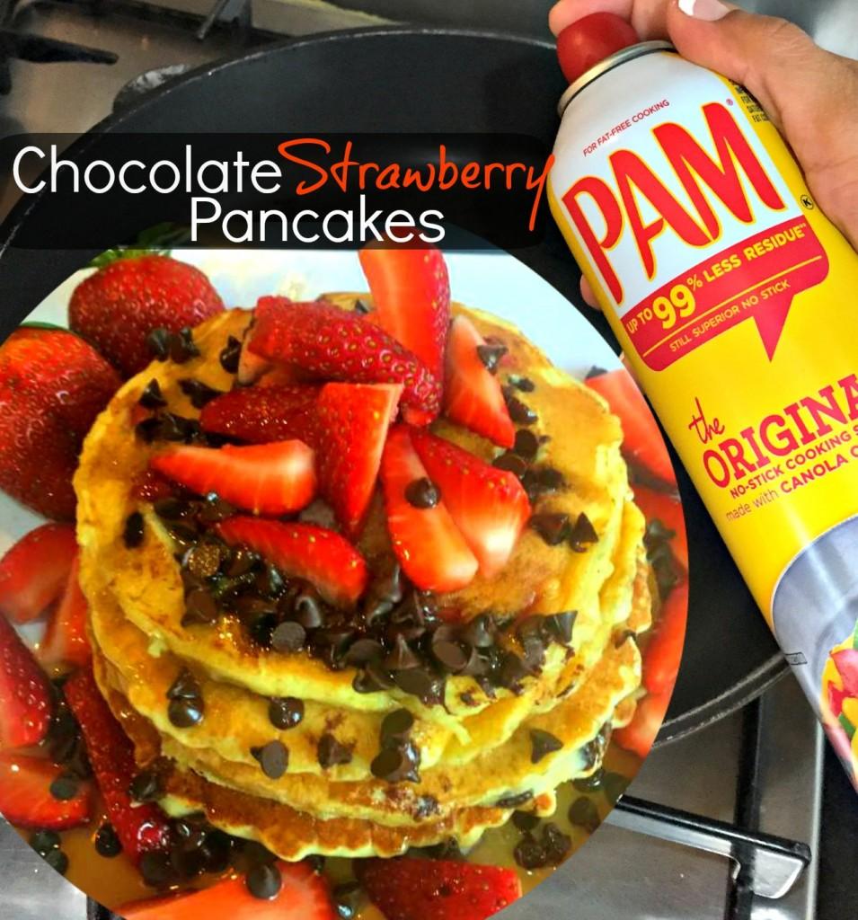 Easy Chocolate Strawberry Pancakes Recipe