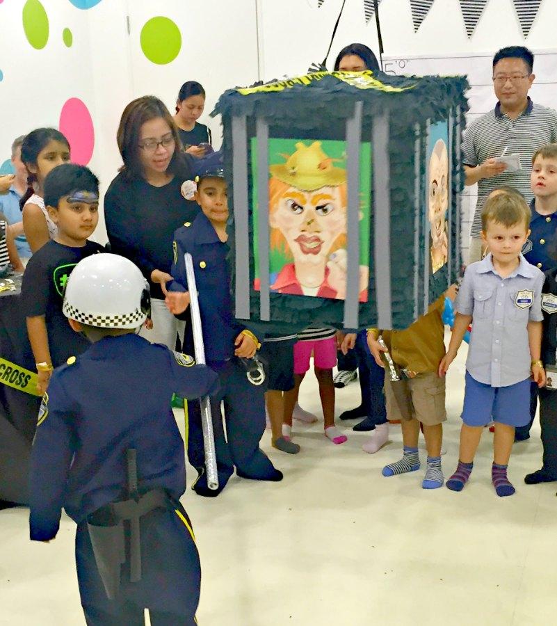 Cops & Robbers Birthday Themed Jail Pinata