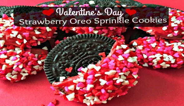 "Valentine's Day ""Strawberry Oreo Sprinkle Cookies"" Recipe"