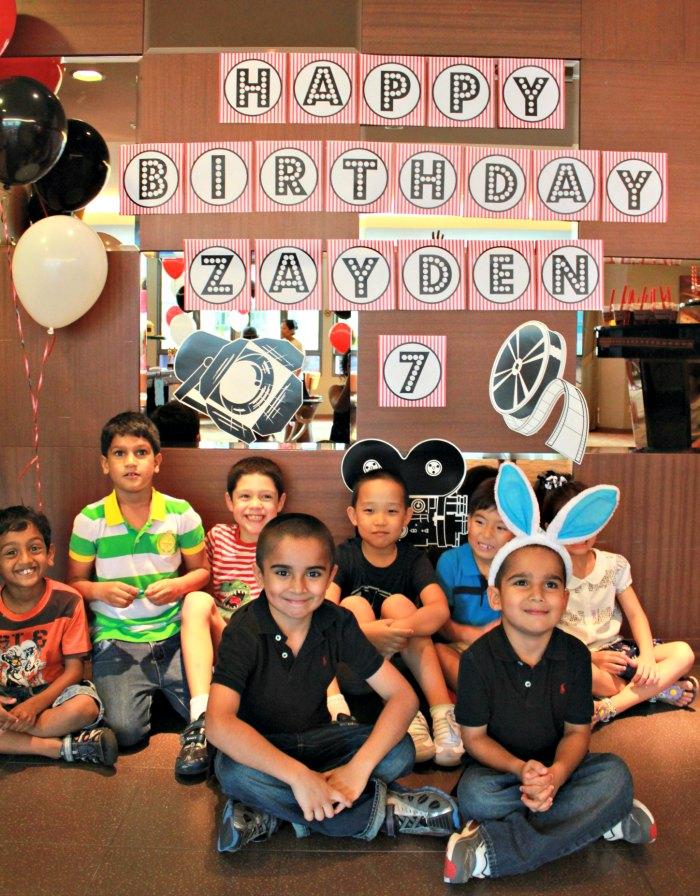 Free Printable Happy Birthday Banner Movie Night Red Black White Polka Dot Birthday Party