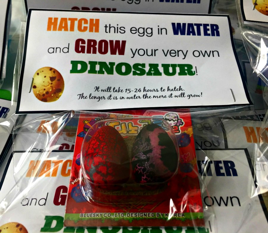 Dinosaur Themed Birthday Party Easter Egg