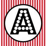 Red Black White Polka Dot Happy Birthday Movie Night Banner