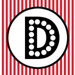 FREE PRINTABLE Red Black White Polka Dot Happy Birthday Movie Night Banner Pirate