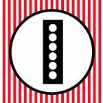 FREE PRINTABLE Red Black White Polka Dot Happy Birthday Movie Night Banner