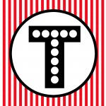Free Happy Birthday Banner Red Black White Polka Dot Movie Night