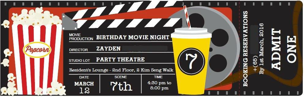 Movie Night Themed Kid's Birthday Party