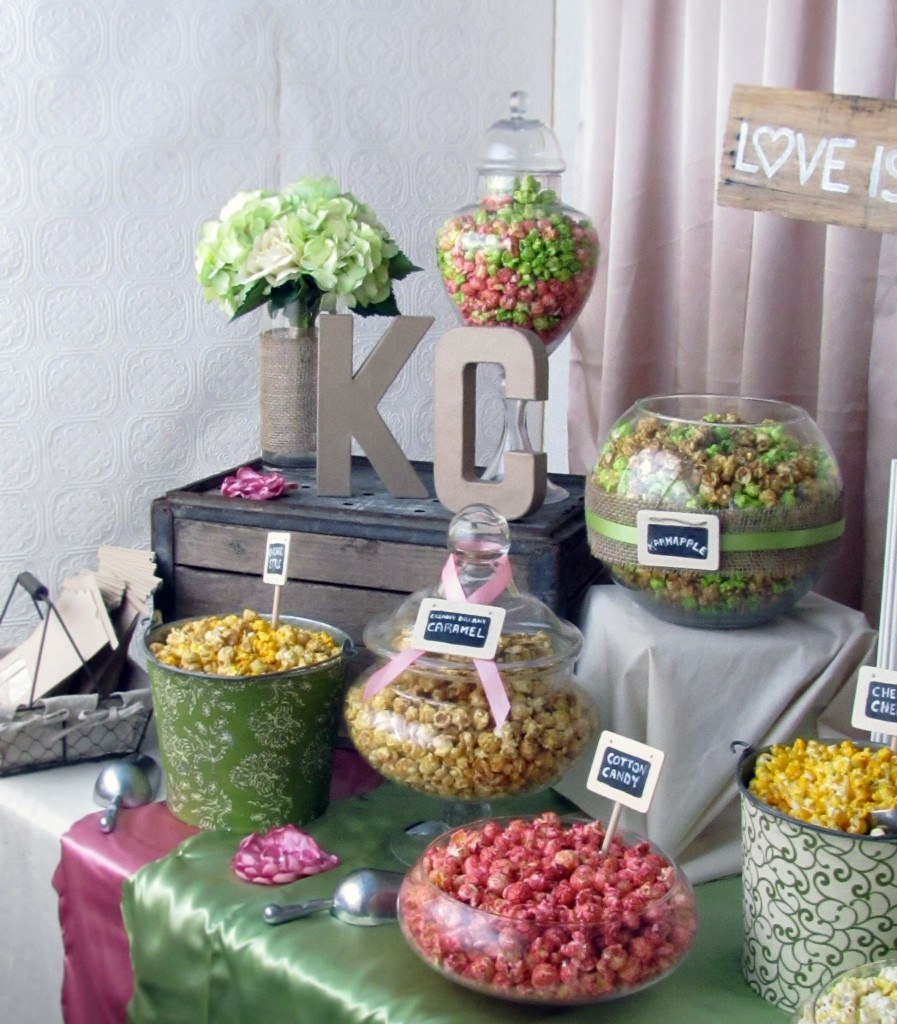 DIY Popcorn Bar Party Wedding Birthday Movie Night Party Ideas