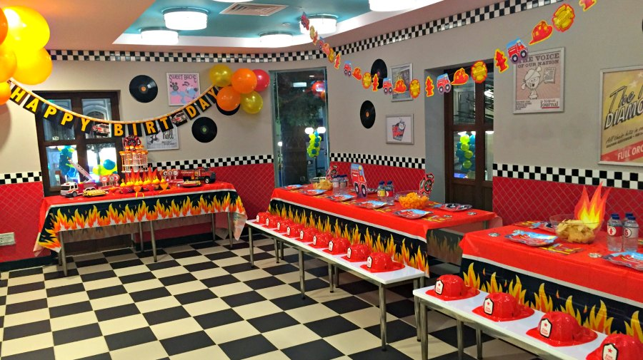 Firefighter Themed Kids Birthday Party Ideas