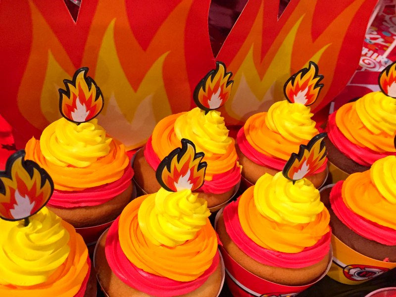 firefighter themed cupcakes 1