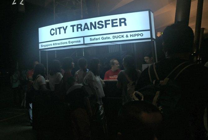 Singapore Night Safari Bus City Transfer