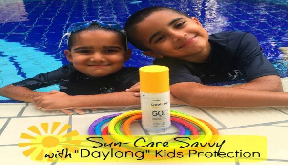 """Be Sun-Care Savvy with """"Daylong"""" Kids Protection"""
