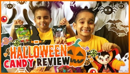 Halloween Gummy Candy Kids Review YouTube Video Children Playing Monsters Trick or Treat Yucky Singapore