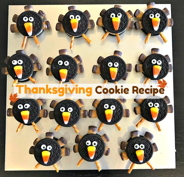 Thanksgiving no bake easy turkey cookie recipe