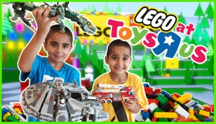 LEGO ToysRUS Kids Playing Review Christmas Toys Gifts Boys Girls
