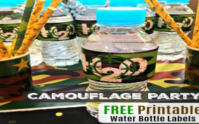"""Kid's Camouflage Party """"Water Bottle Labels"""" / Free Printables"""