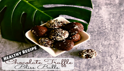 Easy Healthy Snack Idea Chocolate Oat Truffle Recipe Bliss Balls Kids