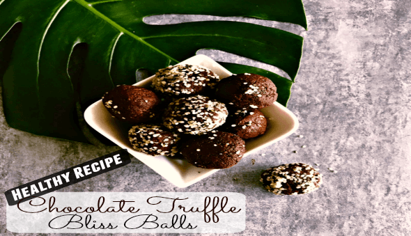 "Healthy Chocolate Truffle ""Bliss Balls"" Recipe"
