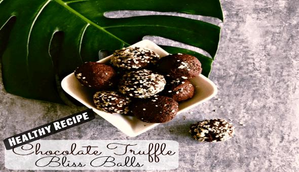 "Healthy Chocolate Truffle ""Bliss Balls"" Recipe"