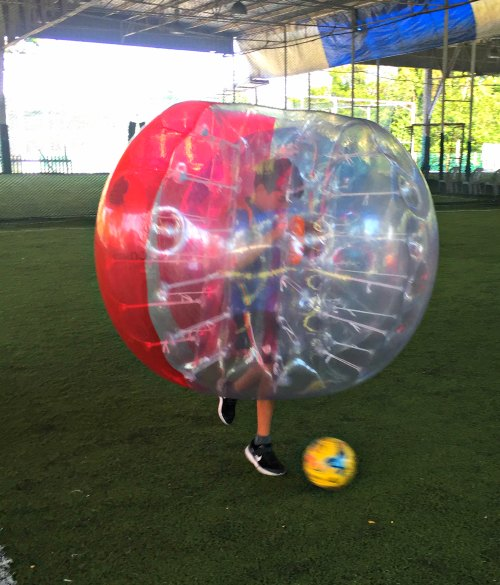 Bubble Soccer Bump Singapore Kids Birthday Party Package 1