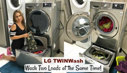 LG TWINWash Review Singapore Two loads Laundry tips for busy moms chores for kids allergy baby delicate wash
